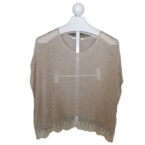 Forever 21 Poncho Style Semi Sheer Top SM